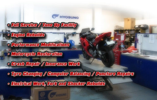 DA Motorcycles workshop services